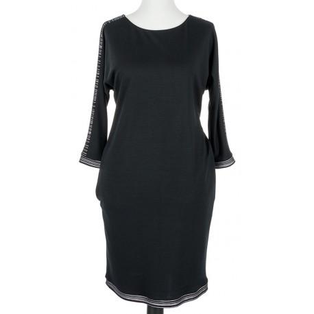 sukienka Modena Styl Betina 1545 czarna rozmiar 38 42 46