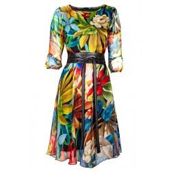 Sukienka damska Midori Texa Tropic kolorowe kwiaty rozmiar 38 40 42 44