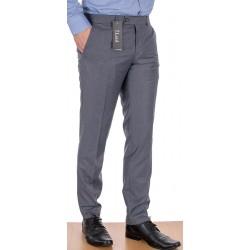 Szare spodnie zwężane w kant Lord Sp.072 wełniane rozmiar 84-114 cm