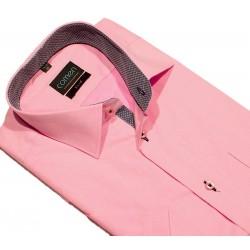 Koszula z krótkim rękawem Comen różowa slim 39 40 41 42 43 44 45 46