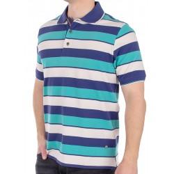 Zielono-niebieska koszulka polo Belika 31H*2076 101 07 7456 w paski