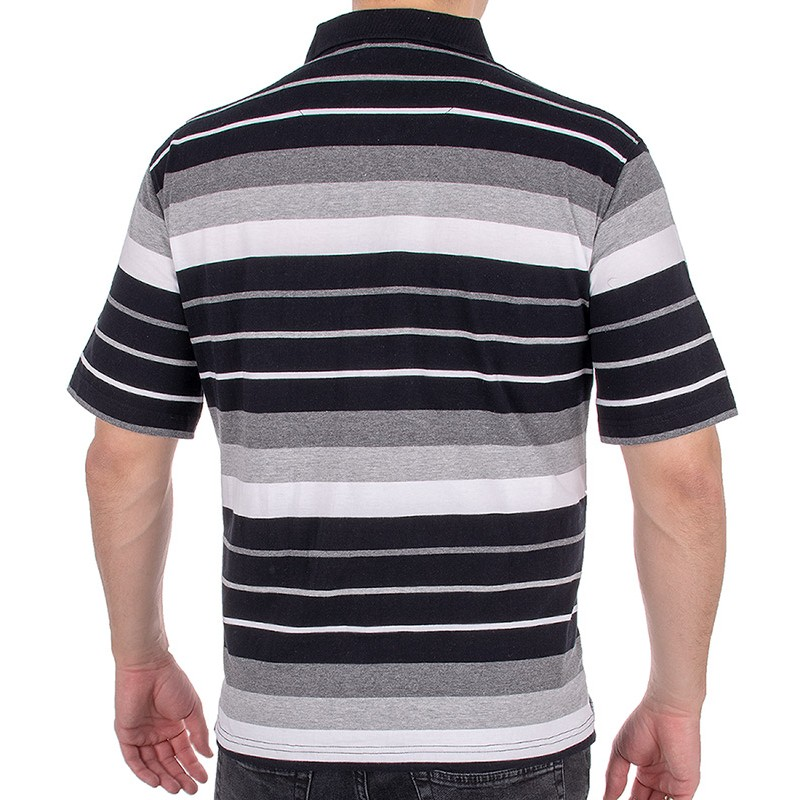 Koszulka polo Kings Elkjaer 31D*505 - biało czarne paski