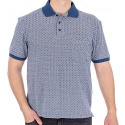 Koszulka polo Kings Elkjaer 703 45- niebieski jeans wzór M L XL 2XL