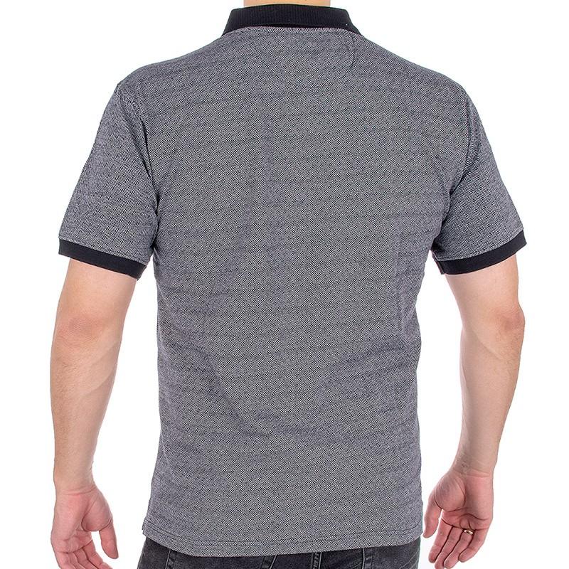 Szara koszulka polo Kings Elkjaer 709 340 - krótki rękaw