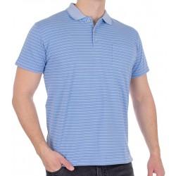 Niebieska koszulka polo Kings Elkjaer 652 20 w paski M L XL 2XL
