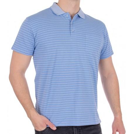 Niebieska koszulka polo kr. rękaw Kings Elkjaer 652 20 w paski
