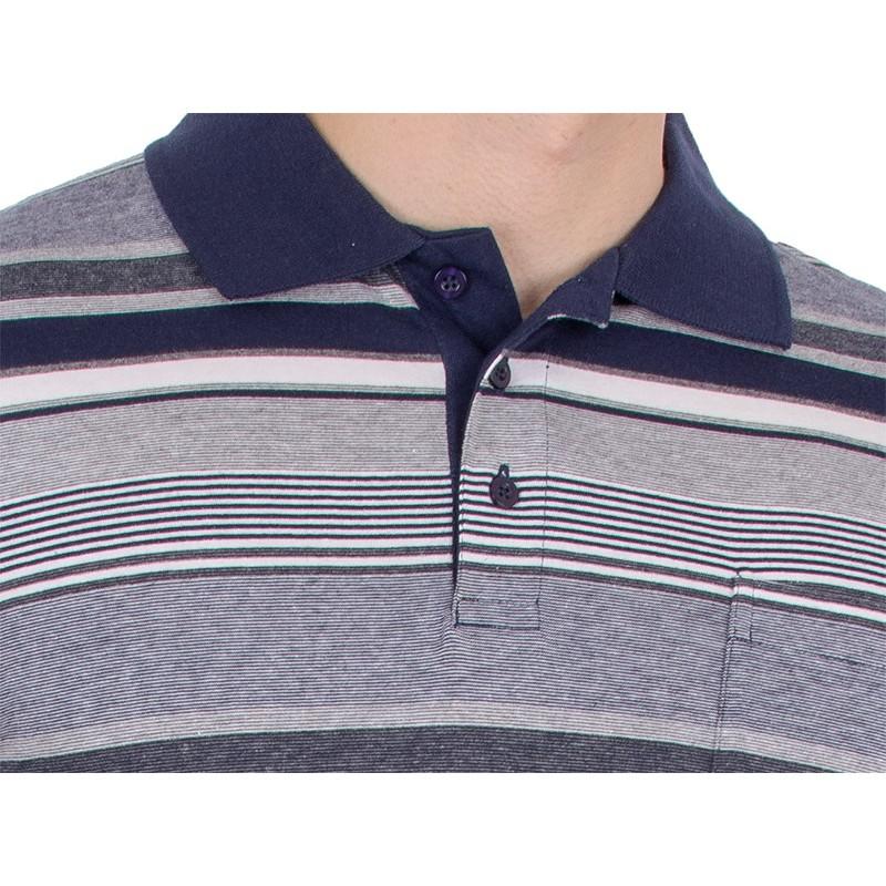 Granatowo-niebieska koszulka polo Kings Elkjaer 31D*502 w paski