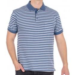 Niebieskobiała koszulka polo w paski Kings Elkjaer 656 630