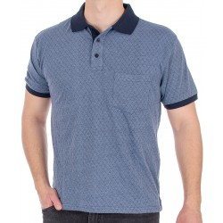 Niebieska koszulka polo Kings Elkjaer 702 345 wzorek r. M L XL 2XL 3XL