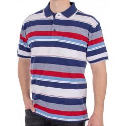 Koszulka polo Kings Elkjaer 710 345 w kolorowe pasy r. M L XL 2XL 3XL