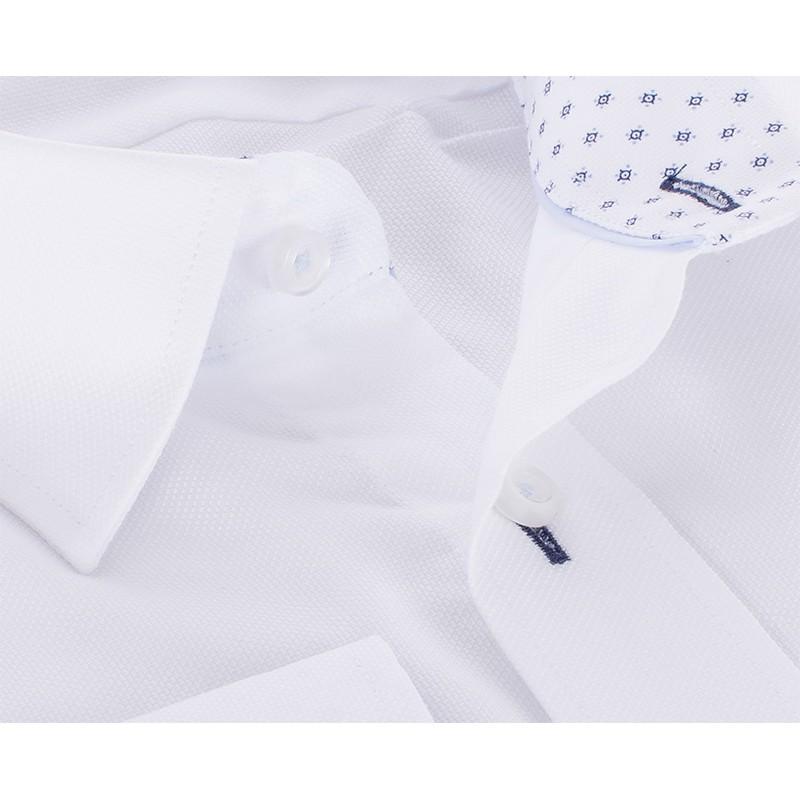 Biała koszula Comen z długim rękawem slim