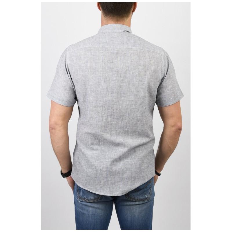 Szara koszula Pako PJKR 6 Erni z kr. rękawem