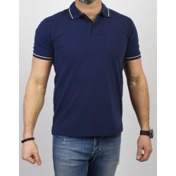 Niebieska koszulka Pako Jeans TPJ Polo City kr. rękaw M L XL 2XL 3XL