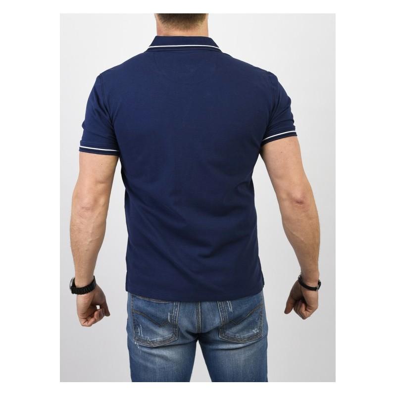 niebieska koszulka Pako Jeans TPJ Polo City - kr. rękaw