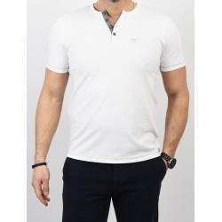 Biała koszulka PakoJeans TPJ Task krótki rękaw r. M L XL 2XL 3XL