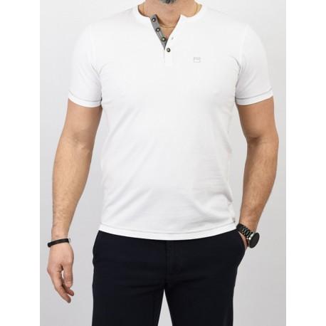 Biała koszulka PakoJeans TPJ Task krótki rękaw
