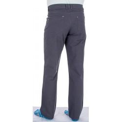 Bawełniane spodnie niezwężane Lord R-8 koloru szarego