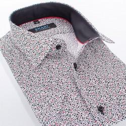 Koszula Comen z krótkim rękawem ze wzorem slim r. 39 40 41 42 43 44 45