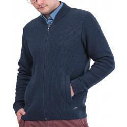 Rozpinany sweter bez stójki Lasota Wiktor granatowy r. M L XL 2XL 3XL