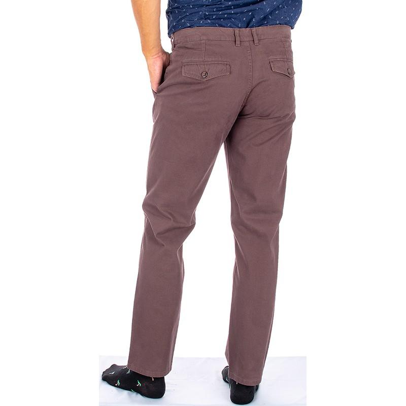 Brązowe spodnie typu chinos Lord R-140