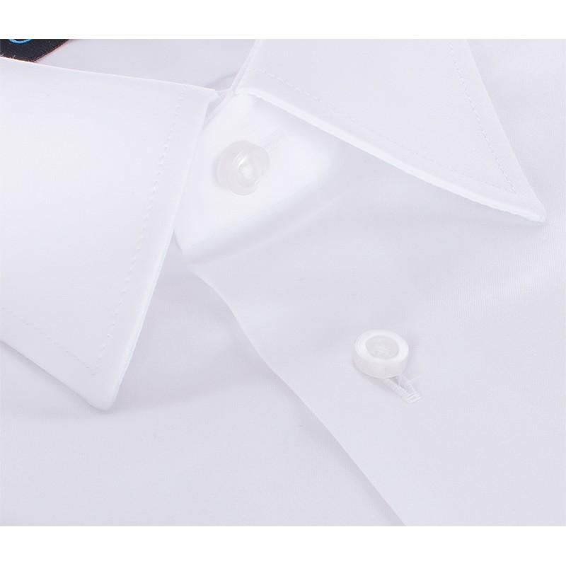 Koszula z krótkim rękawem Comen - biała slim
