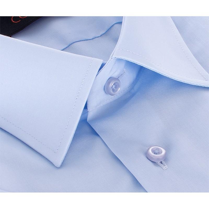 Koszula Comen z krótkim rękawem - niebieska regular