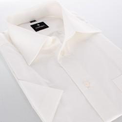Beżowa koszula regular z krótkim rękawem Comen 40 41 42 43 44 45 46