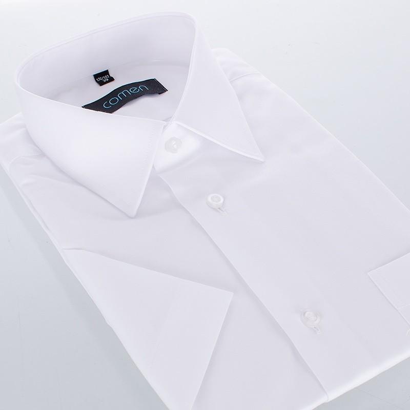 Koszula biała Comen z krótkim rękawem - regular