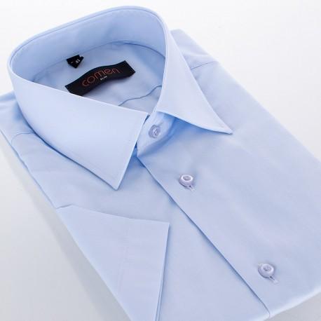 Koszula z krótkim rękawem Comen - niebieska slim