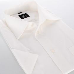 Taliowana koszula Comen krótki rękaw beż 37 38 39 40 41 42 43 44 45 46