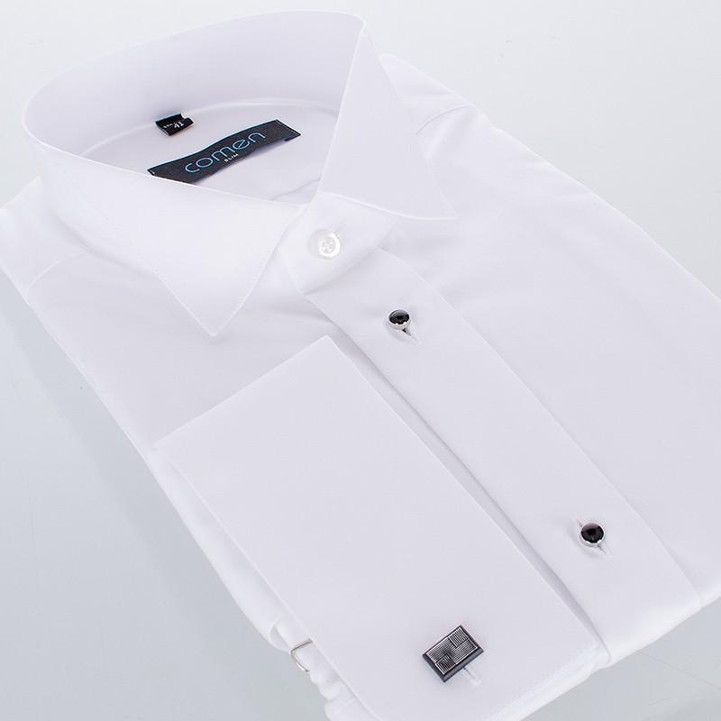Biała smokingowa koszula Comen z długim rękawem - slim