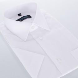 Biała koszula regular Comen z krótkim rękawem rozmiar 39 40 49