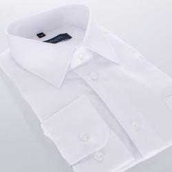 Niezwężana biała koszula Comen z długim rękawem - regular