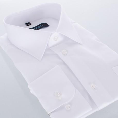 Biała koszula Comen z długim rękawem - slim