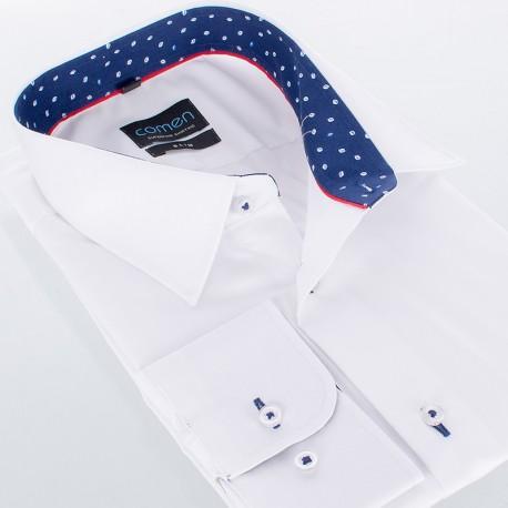 Elegancka biała koszula Comen z długim rękawem - slim