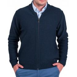 Granatowy sweter Lasota Tomasz rozpinany