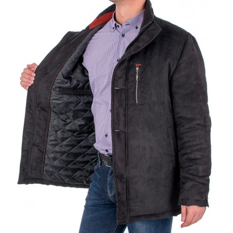 Czarna kurtka zimowa Racmen 3071