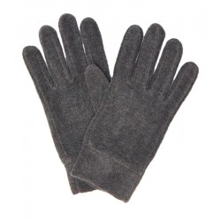 Szare polarowe rękawiczki męskie ciepłe i przyjemne w dotyku