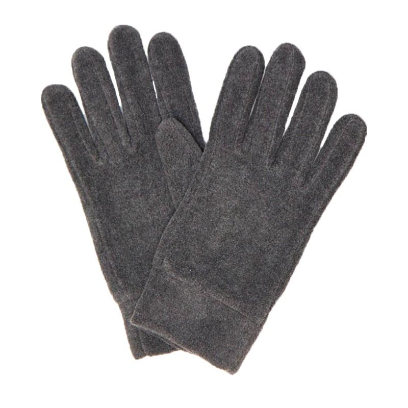 Szare rękawiczki męskie wykonane z polaru