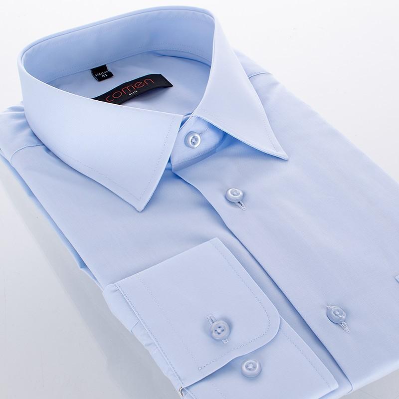 Koszula Comen z długim rękawem - slim niebieska