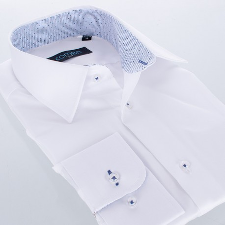 Elegancka biała koszula Comen z długim rękawem slim