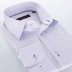 Popielata gładka bawełniana koszula Comen slim 39 40 41 42 43 44 45 46