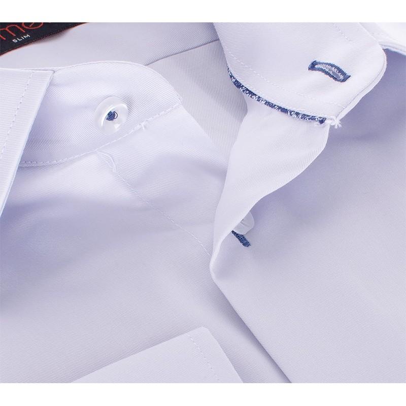 Popielata gładka bawełniana koszula Comen slim