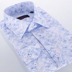 Białoniebieska koszula Comen slim Esy paisley 39 40 41 42 43 44 45 46