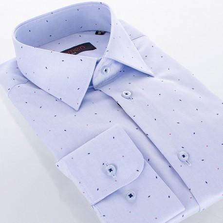 Jasnoniebieska koszula Comen ze wzorem w romby