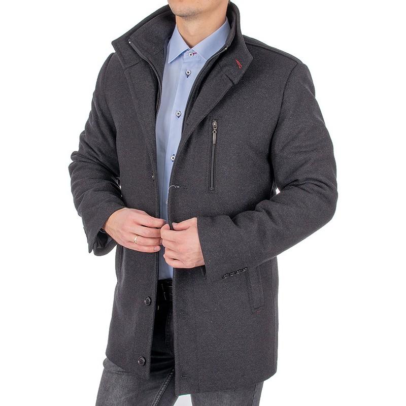 Grafitowy płaszcz Racmen Dominik 2890