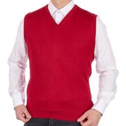 Wełniany bezrękawnik Kings 10339 6083 czerwony Max Sheldon M L XL 2XL