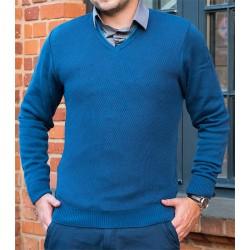 Sweter Lasota Kamil serek kolor niebieski atlantik
