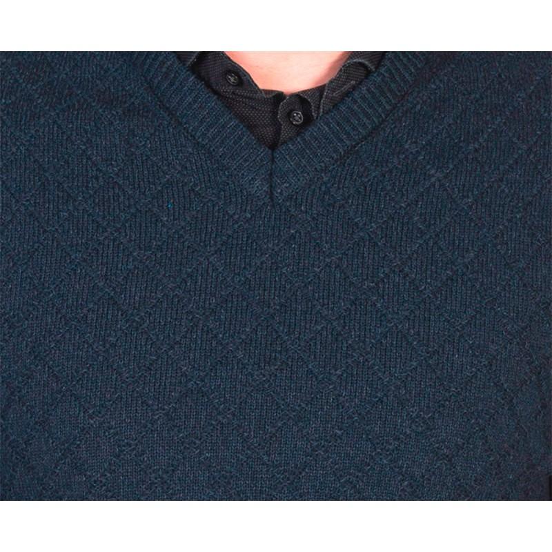 Bawełniany granatowy sweter Lasota Szymon serek