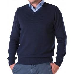 Sweter w serek Lasota Hermes granatowy rozmiary M L XL 2XL